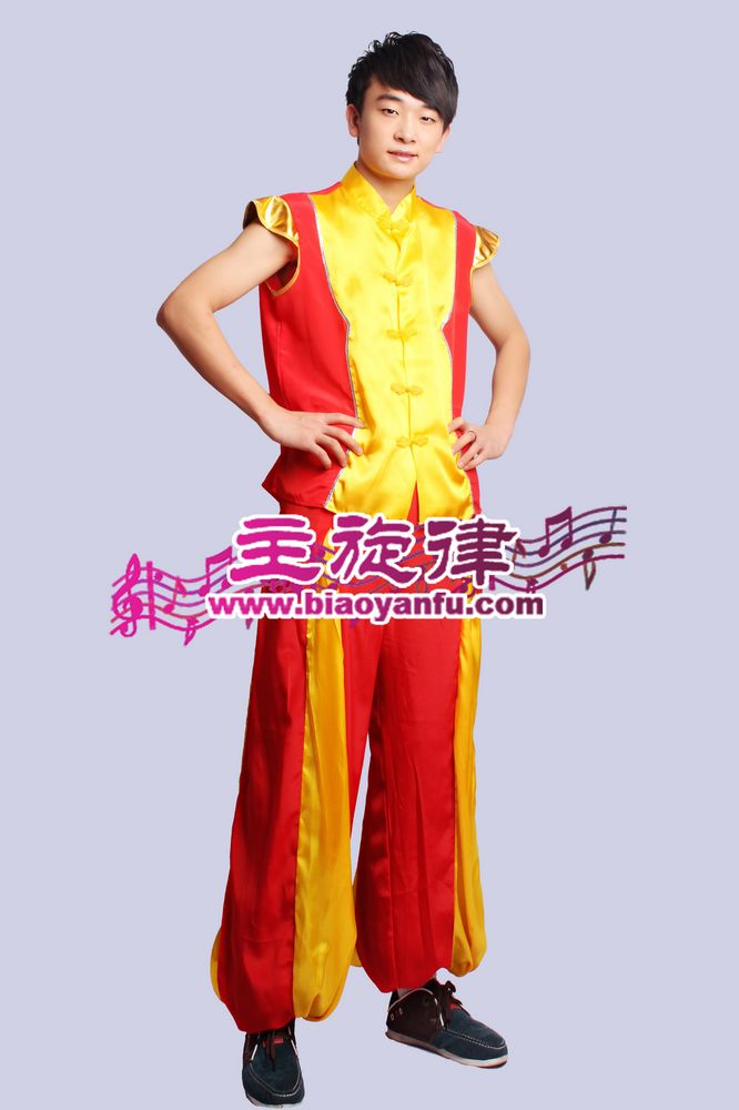 H-042男汉族红黄间