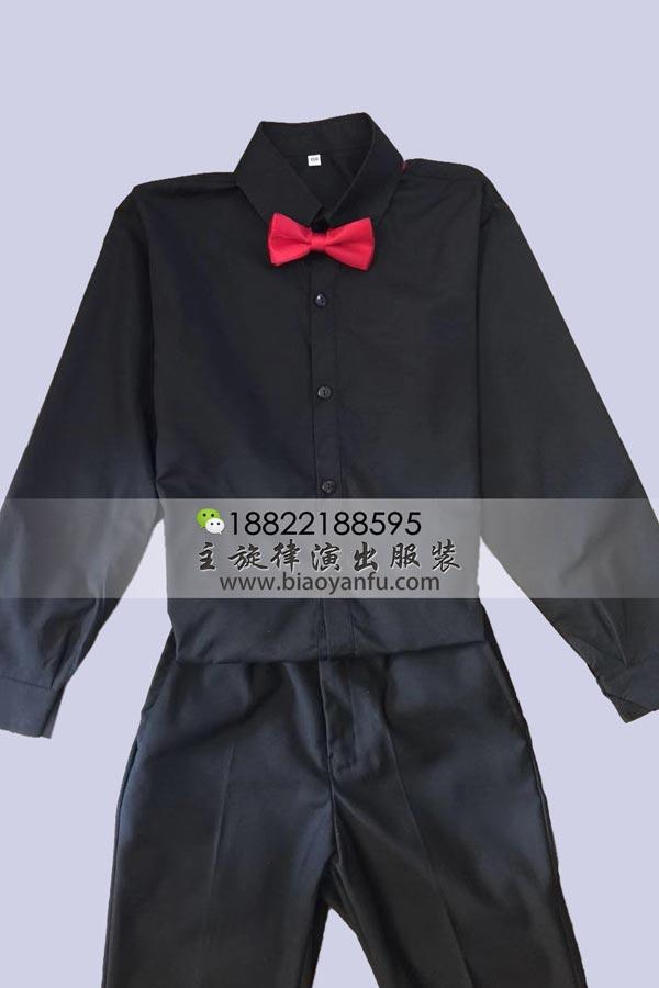 CD078-男童黑衬衣150