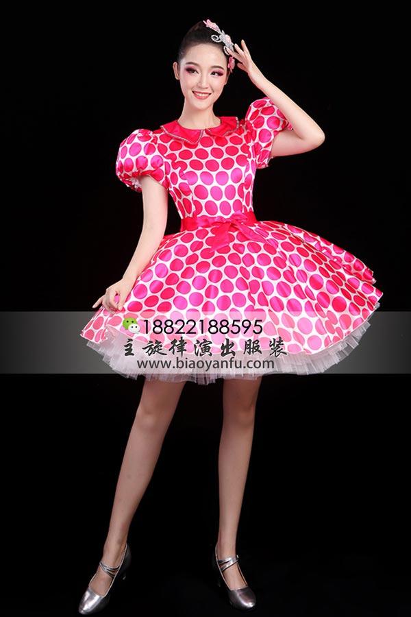 X-0159波点裙粉